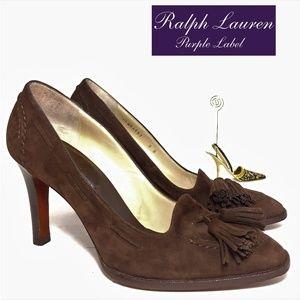Ralph Lauren Collection Suede Luxury Pumps Sz 8B